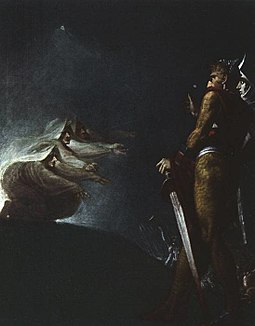 Macbeth and Banquo with the Witches by Henry Fuseli Macbeth and Banquo with the witches JHF.jpg