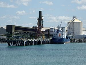 Economy of Queensland - A bulk sugar terminal at Mackay