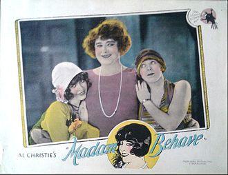 Madame Behave - Lobby card