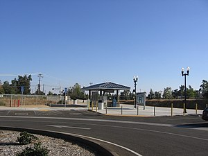 Madera station (Amtrak) - Madera station in October 2012 (before the addition of the bathroom building)