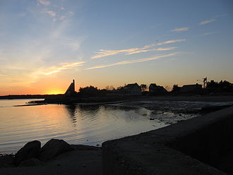 Madison, Connecticut - The beach at sunset