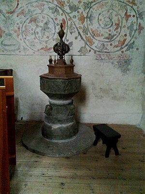 Byzantios - Image: Maesterby kyrka Gotland dopfunt