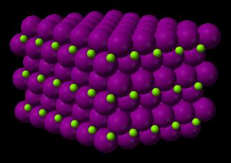 Magnesium iodide - Image: Magnesium iodide xtal 3D ionic
