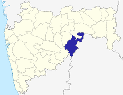 Location of Nanded district in Maharashtra