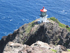 Makapuu Point Light - The light from the hiking trail