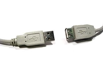 USB hardware - Type-A plug and, as part of a non-standard cable, receptacle