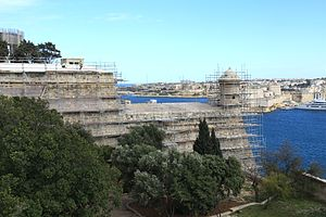 Fortifications of Valletta - Restoration works at St. Peter and St. Paul Counterguard in 2013