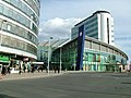 Manchester Piccadilly station approach - April 11 2005.jpg