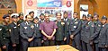 Manohar Parrikar with the Ganga Expedition 'Ganga Avahan-2015' team members, at the flag-in ceremony, in New Delhi. The Chief of the Air Staff, Air Chief Marshal Arup Raha and the Commandant DSSC.jpg
