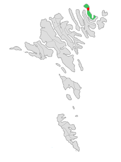 Location of Viðareiðis kommuna in the Faroe Islands
