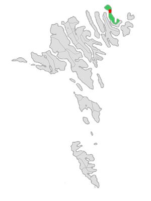 Viðareiði - Image: Map position vidareidis kommuna 2005