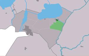 Echtenerbrug - Image: Map NL Lemsterlân Ychtenbrêge