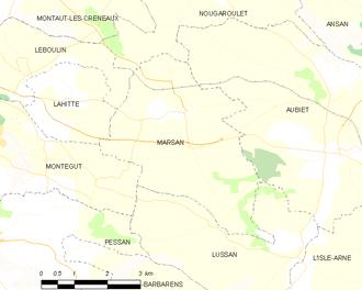 Marsan - Marsan and its surrounding communes