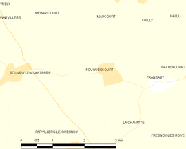 Mapa obce Fouquescourt