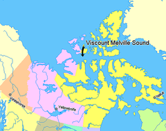 Map indicating Viscount Melville Sound, Nunavut, Canada.png