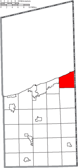 Location of Conneaut in Ashtabula County
