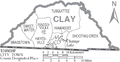 Map of Clay County North Carolina With Municipal and Township Labels.PNG