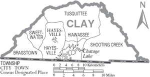 Clay County, North Carolina - Map of Clay County, North Carolina With Municipal and Township Labels