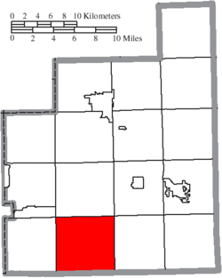 Location of Auburn Township in Geauga County