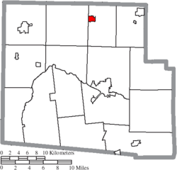 Location of Dunkirk in Hardin County