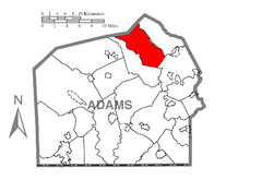 Map of Huntington Township, Adams County, Pennsylvania Highlighted.png
