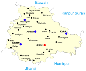Jalaun district - Map of Jalaun