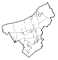 Map of North Catasaqua, Northampton County, Pennsylvania Highlighted.png