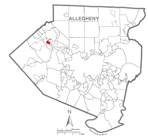 Map of Osborne, Allegheny County, Pennsylvania Highlighted.png