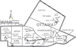 Map of Ottawa County Ohio With Municipal and Township Labels.PNG