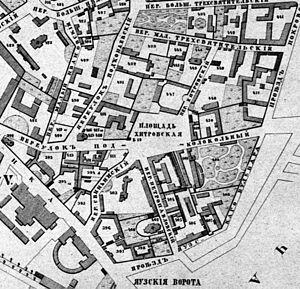 Khitrovka - Khitrov market, 1853
