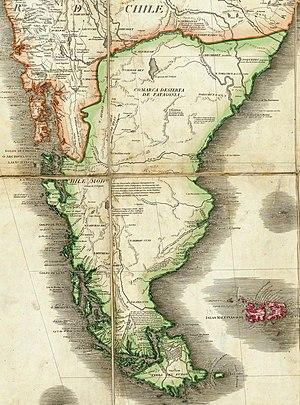 Juan de la Cruz Cano y Olmedilla - Patagonia map by Juan de la Cruz, 1775