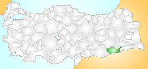 Mardin Turkey Provinces locator