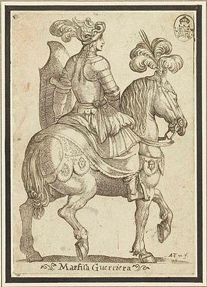 Marfisa - Marfisa Guerriera (Warrioress Marfisa, 1597) by Antonio Tempesta