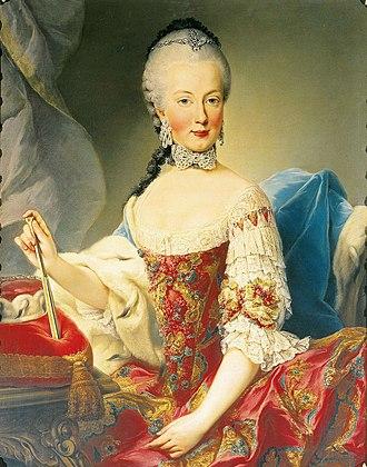Martin van Meytens - Image: Maria Amalia of Habsburg Lorraina Parma