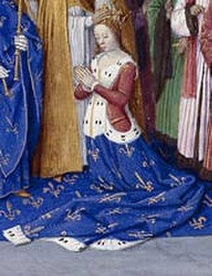 Marie of Brabant, Queen of France - Marie, at her coronation