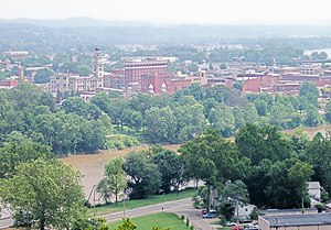 Washington County, Ohio - Downtown Marietta and the Muskingum River in July 2006