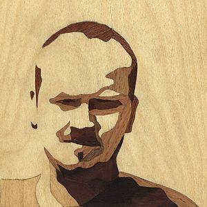 Intarsia - Marquetry Self Portrait - Laszlo Sandor, Marquetry Artist © 2008