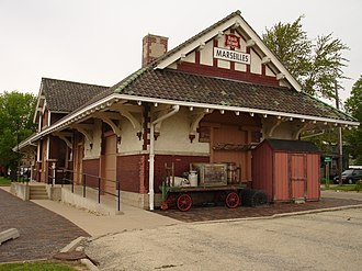 National Register of Historic Places listings in LaSalle County, Illinois - Image: Marseilles IL Chicago, Rock Island and Pacific Depot 1
