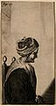 Mary Davis, a woman with horns. Line engraving. Wellcome V0007050.jpg