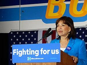 Mary Salas - Salas at a Hillary Clinton Rally in 2016