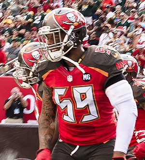 Mason Foster - Foster playing for the Buccaneers in 2014.