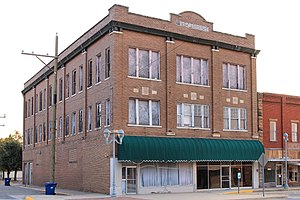 National Register of Historic Places listings in Atoka County, Oklahoma - Image: Masonic Temple Atoka Oklahoma 2017