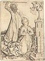 Master E.S., The Martyrdom of Saint Barbara, c. 1450, NGA 108123.jpg