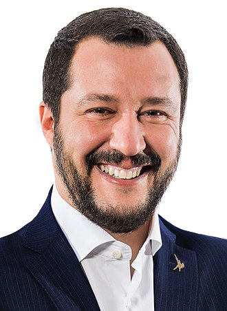 Italian Minister of the Interior - Image: Matteo Salvini Viminale crop