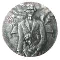 Medal. Yazep Grosswald. 1985. K. Baumanis. Reverse.png
