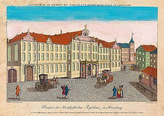 Franz Anton Bagnato - New Castle in Meersburg, ca. 1780