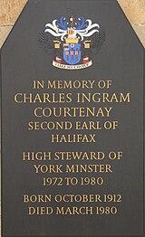Gedenkteken voor Charles Wood, 2de Graaf van Halifax in York Minster.jpg