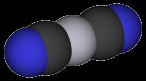 Mercury(II) cyanide - Image: Mercury(II) cyanide 3D vd W