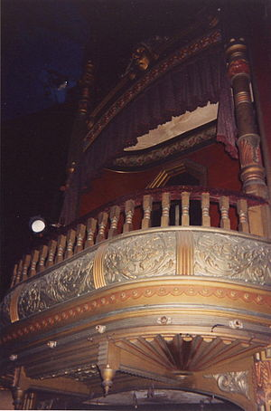 Riley Center - Balcony in the Grand Opera House in 1992