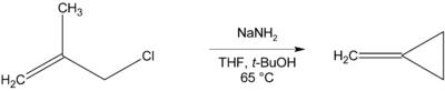 Methylenecyclopropane prepn.png